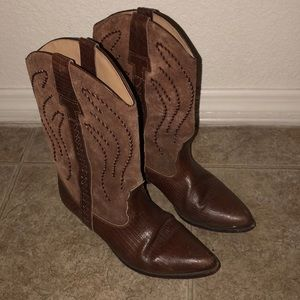 Shoes - Western Bruno Valenti Cowboy Boots in Brown